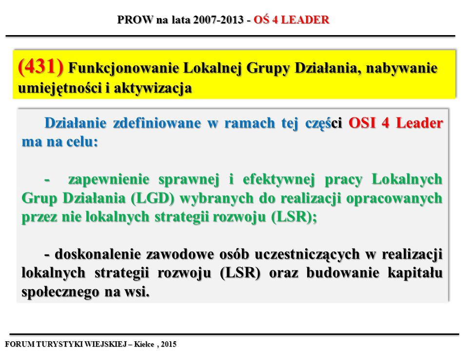 PROW na lata 2007-2013 - OŚ 4 LEADER