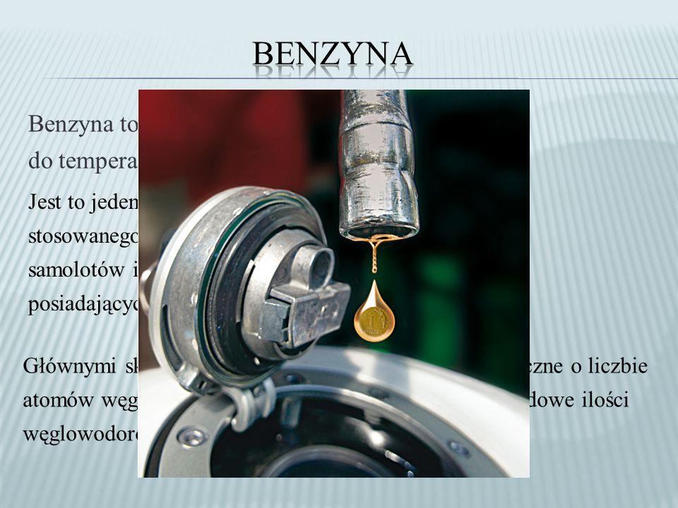 Benzyna Benzyna to frakcje ropy naftowej wrzące