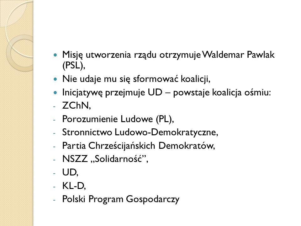 Misję utworzenia rządu otrzymuje Waldemar Pawlak (PSL),