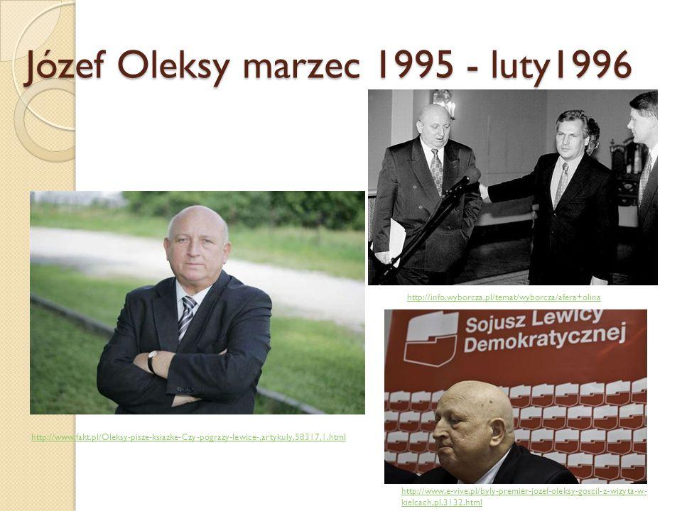 Józef Oleksy marzec 1995 - luty1996