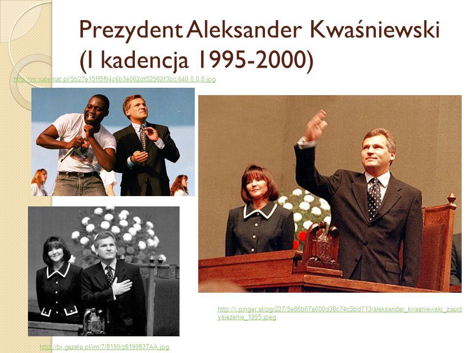 Prezydent Aleksander Kwaśniewski (I kadencja 1995-2000)