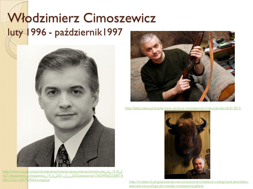 Włodzimierz Cimoszewicz luty 1996 - październik1997