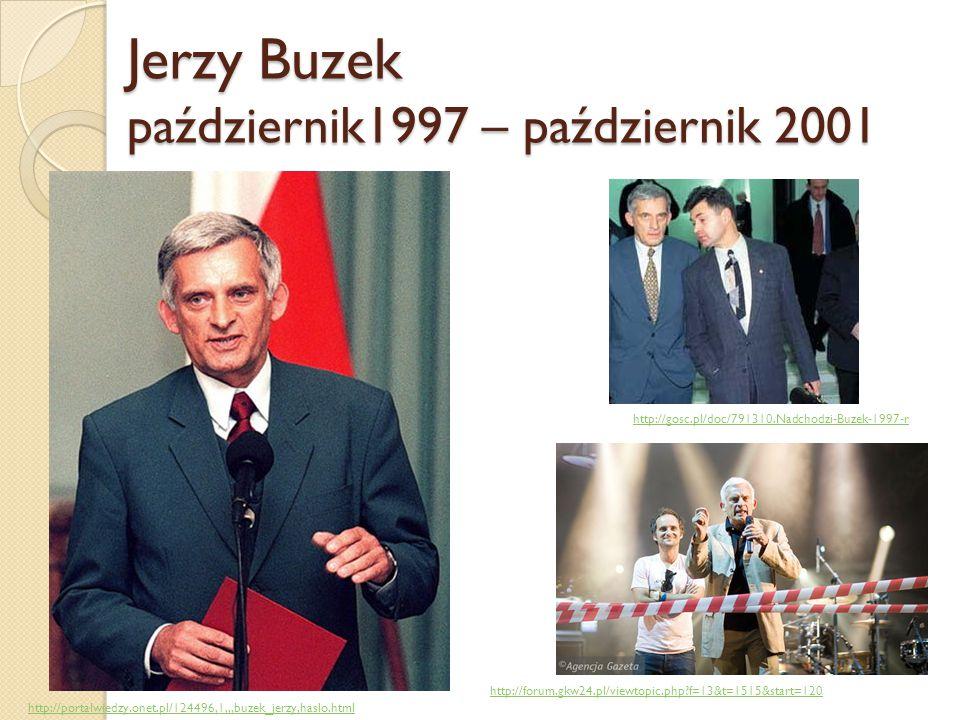 Jerzy Buzek październik1997 – październik 2001