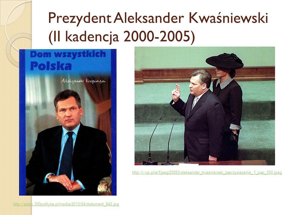 Prezydent Aleksander Kwaśniewski (II kadencja 2000-2005)