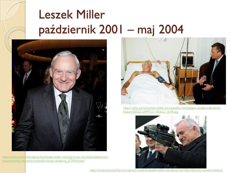 Leszek Miller październik 2001 – maj 2004