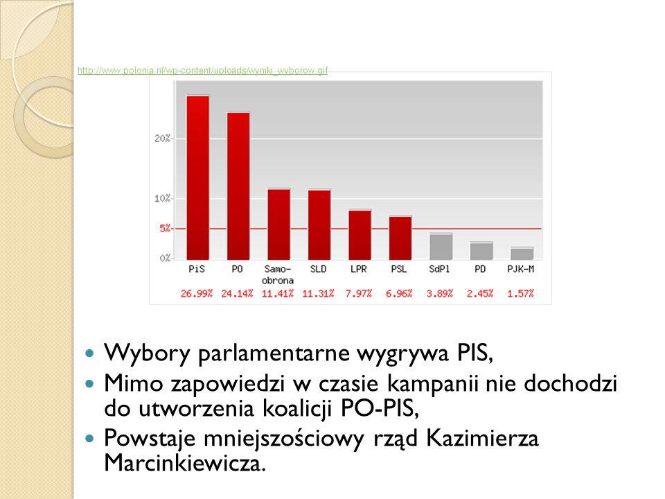 Wybory parlamentarne wygrywa PIS,