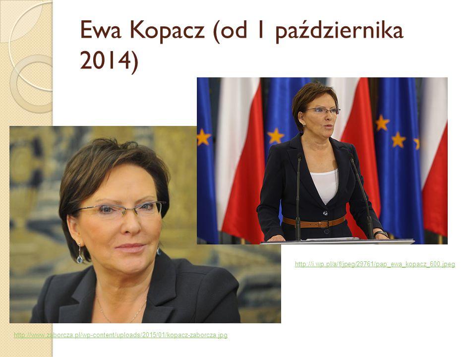 Ewa Kopacz (od 1 października 2014)