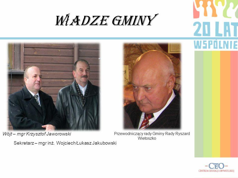 Władze Gminy Wójt – mgr Krzysztof Jaworowski