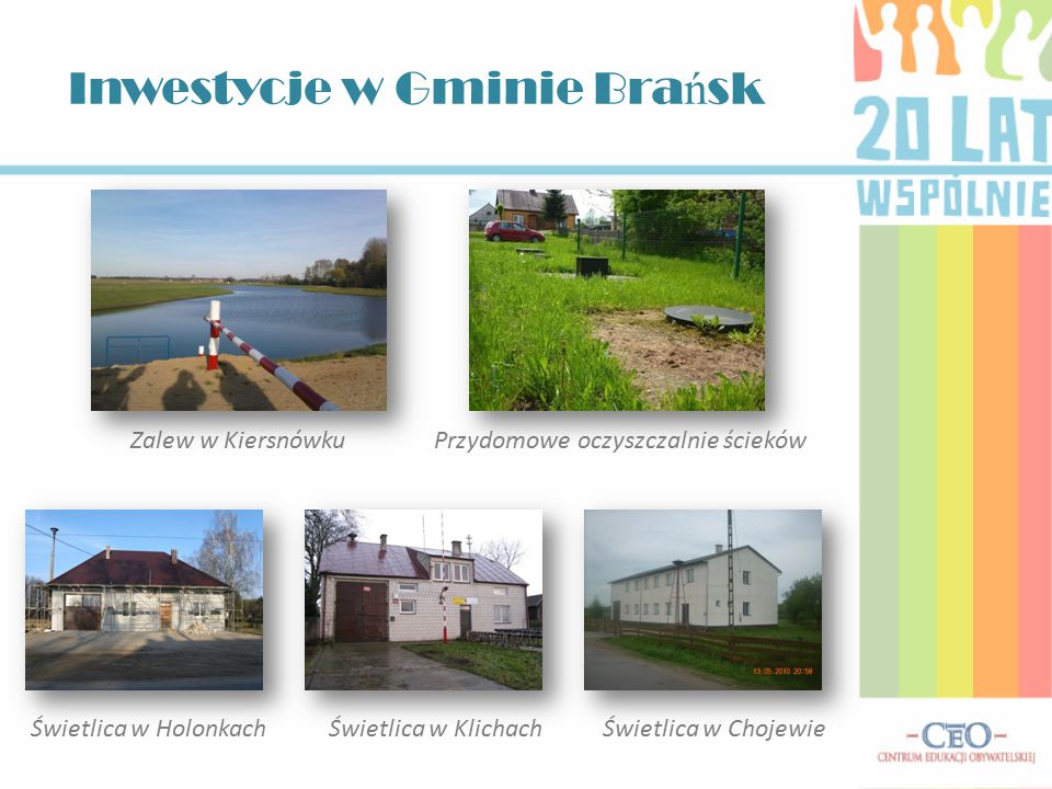 Inwestycje w Gminie Brańsk