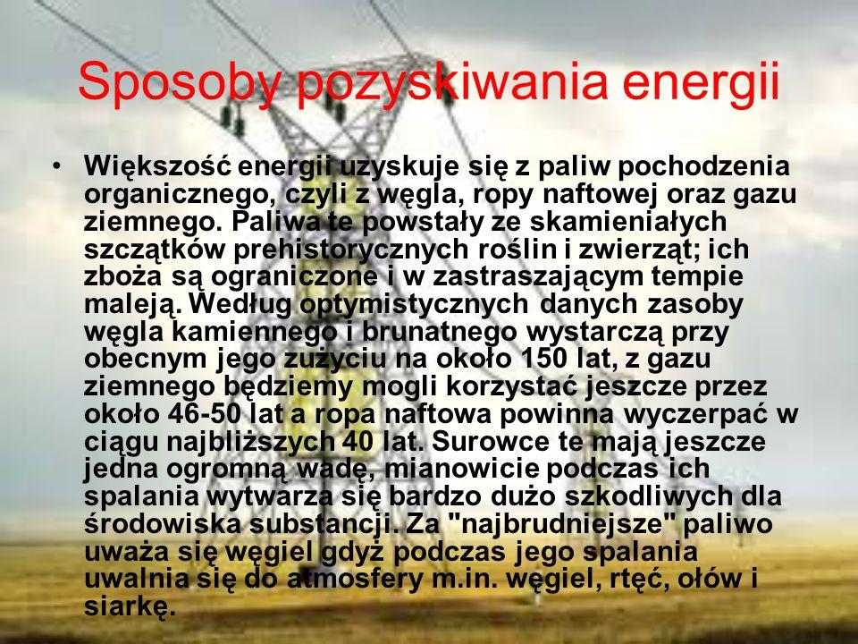 Sposoby pozyskiwania energii