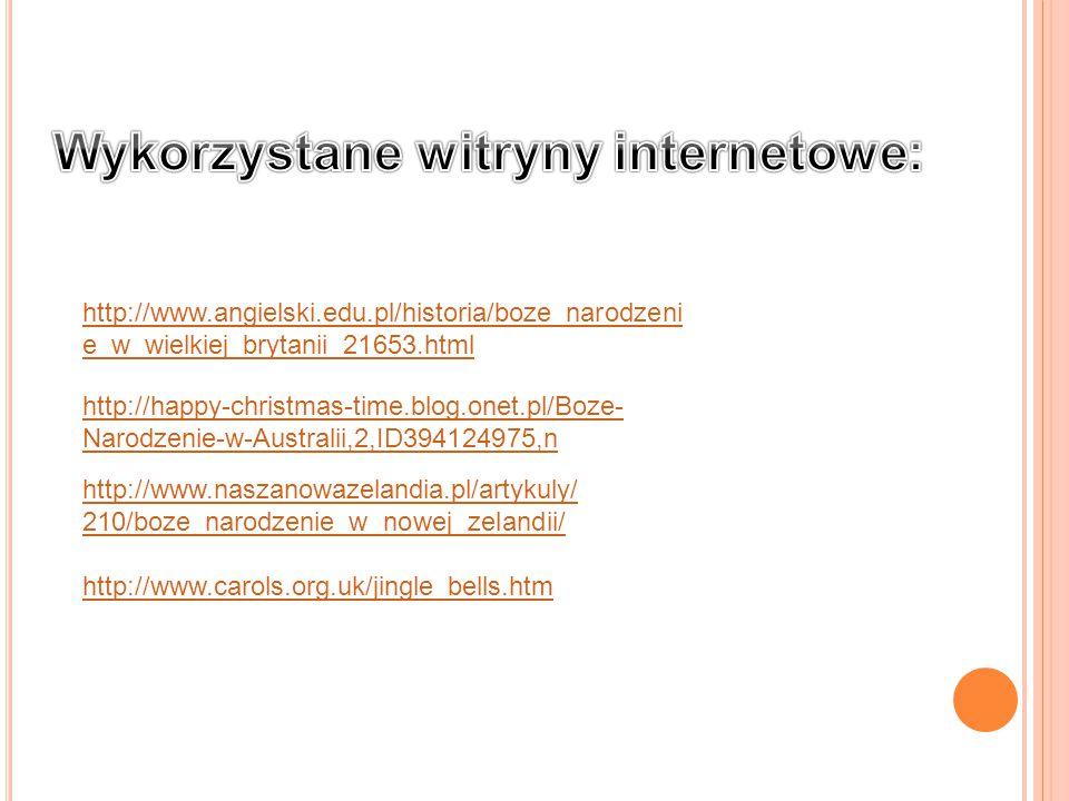 Wykorzystane witryny internetowe: