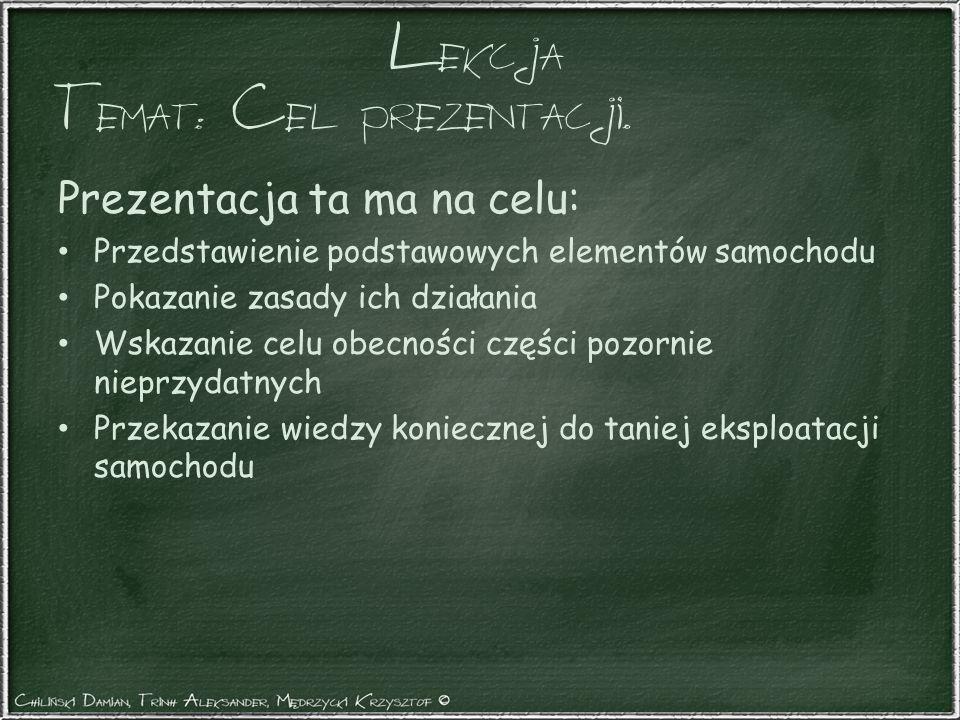 Temat: Cel prezentacji.