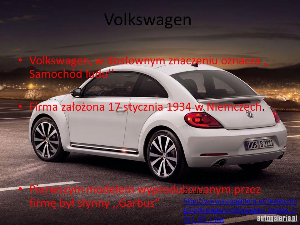 """Volkswagen Volkswagen, w dosłownym znaczeniu oznacza """" Samochód ludu''"""