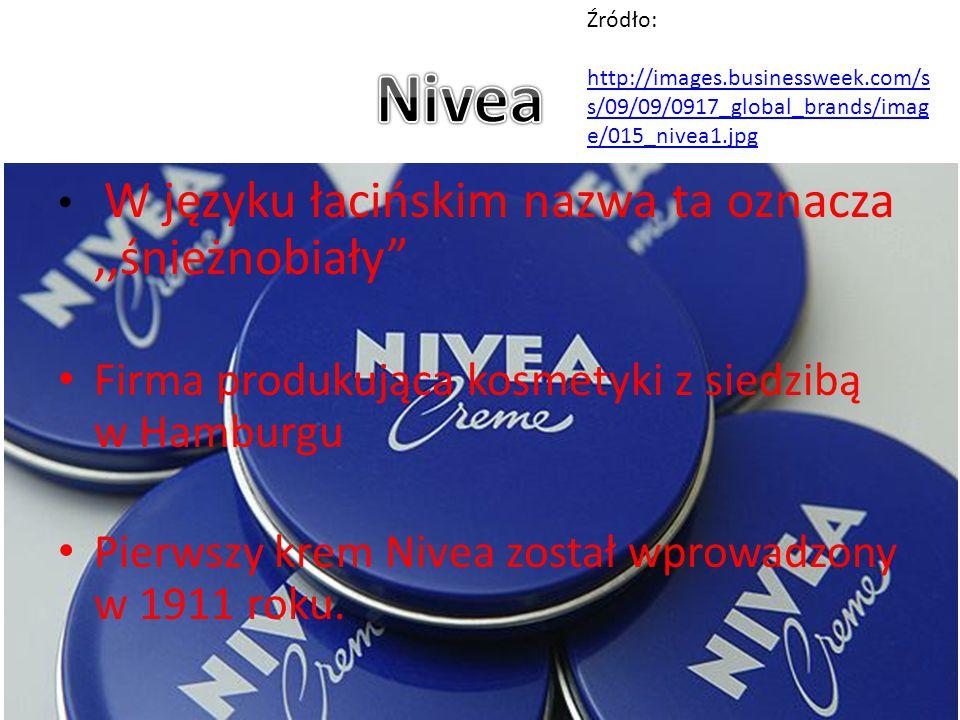 Nivea Firma produkująca kosmetyki z siedzibą w Hamburgu