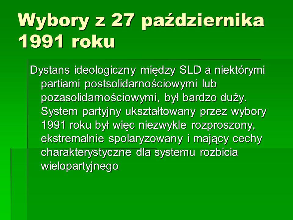 Wybory z 27 października 1991 roku