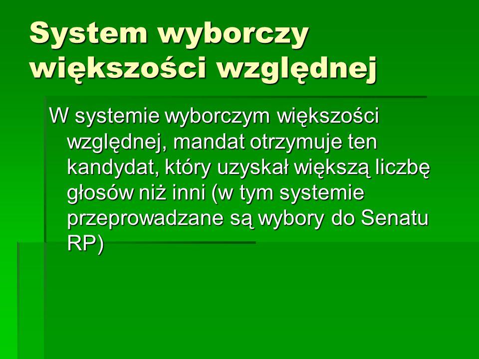System wyborczy większości względnej
