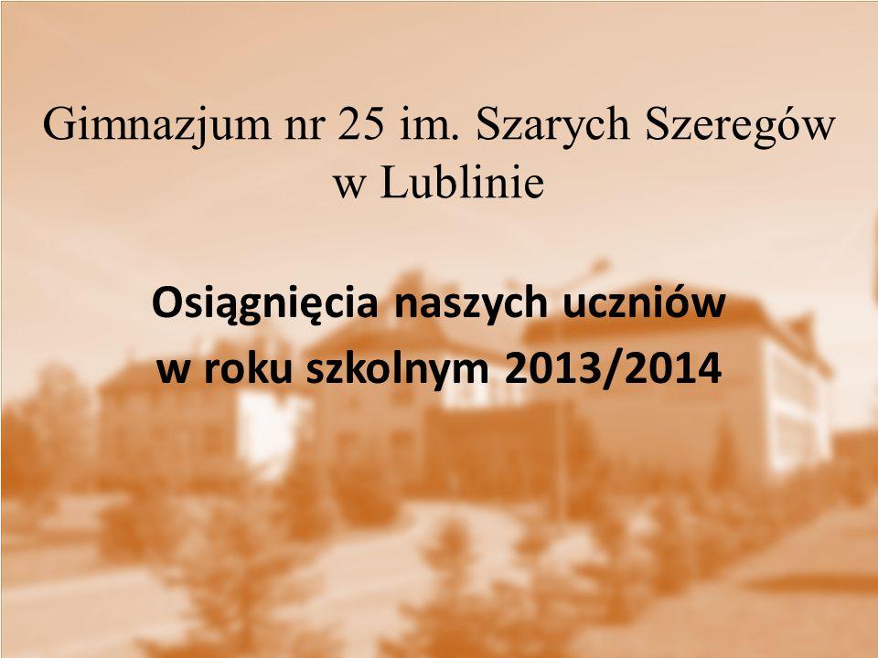 Osiągnięcia naszych uczniów w roku szkolnym 2013/2014