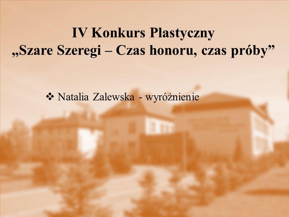 """IV Konkurs Plastyczny """"Szare Szeregi – Czas honoru, czas próby"""