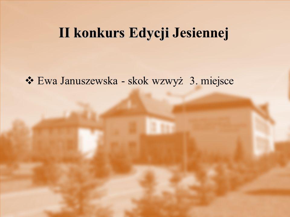 II konkurs Edycji Jesiennej