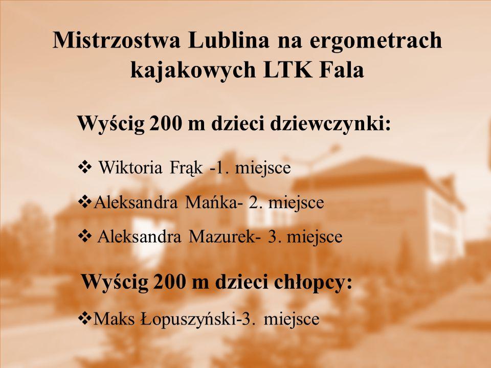 Mistrzostwa Lublina na ergometrach kajakowych LTK Fala