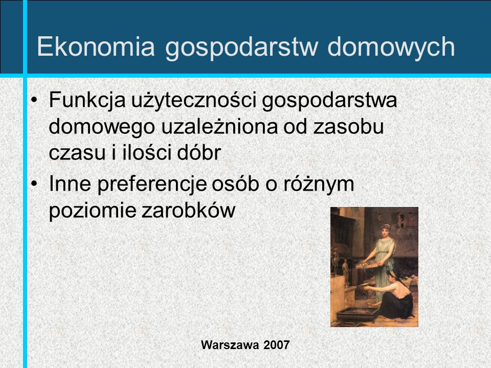 Ekonomia gospodarstw domowych