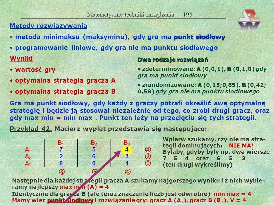       Matematyczne techniki zarządzania - 195