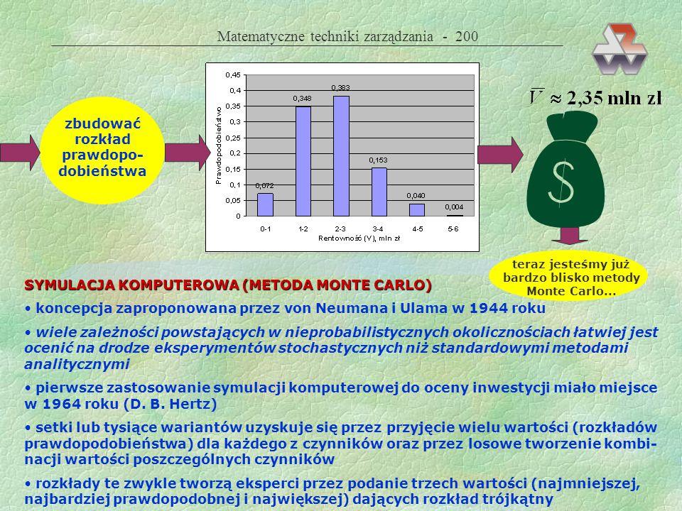  Matematyczne techniki zarządzania - 200