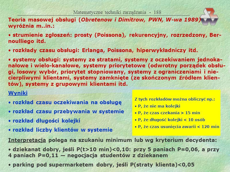 Matematyczne techniki zarządzania - 188