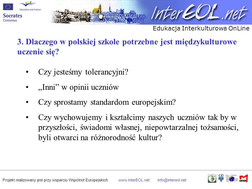 3. Dlaczego w polskiej szkole potrzebne jest międzykulturowe uczenie się