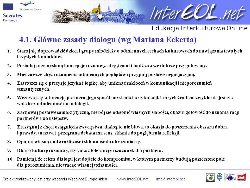 4.1. Główne zasady dialogu (wg Mariana Eckerta)