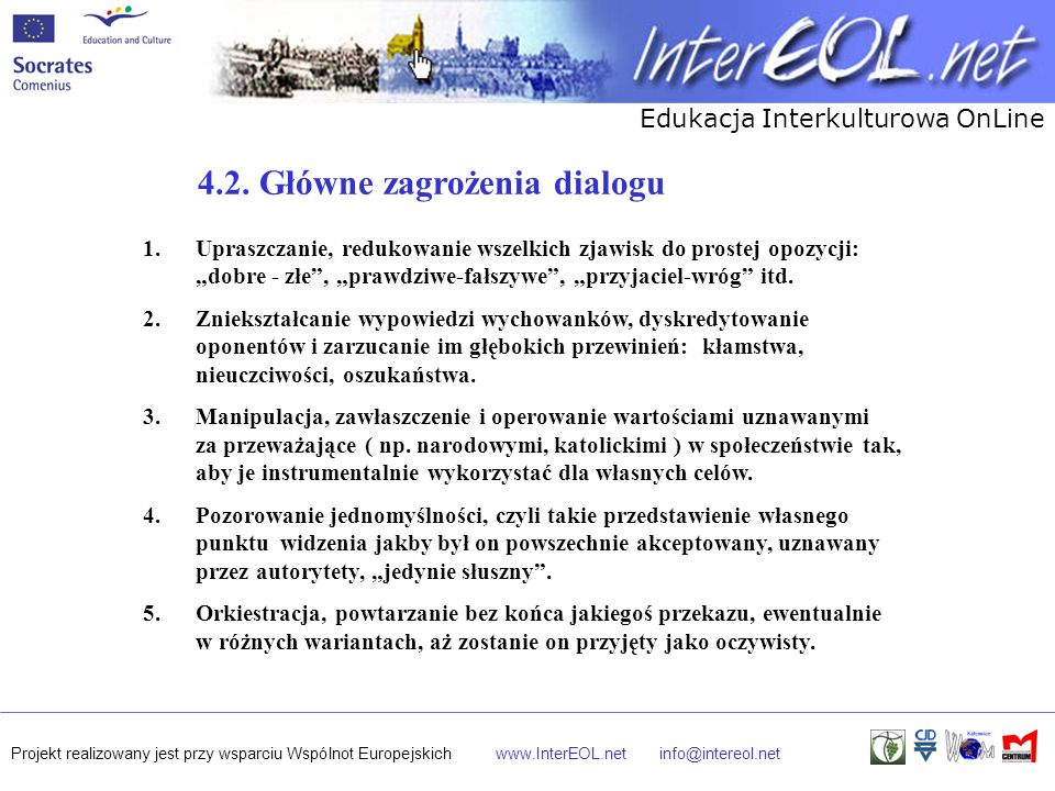 4.2. Główne zagrożenia dialogu