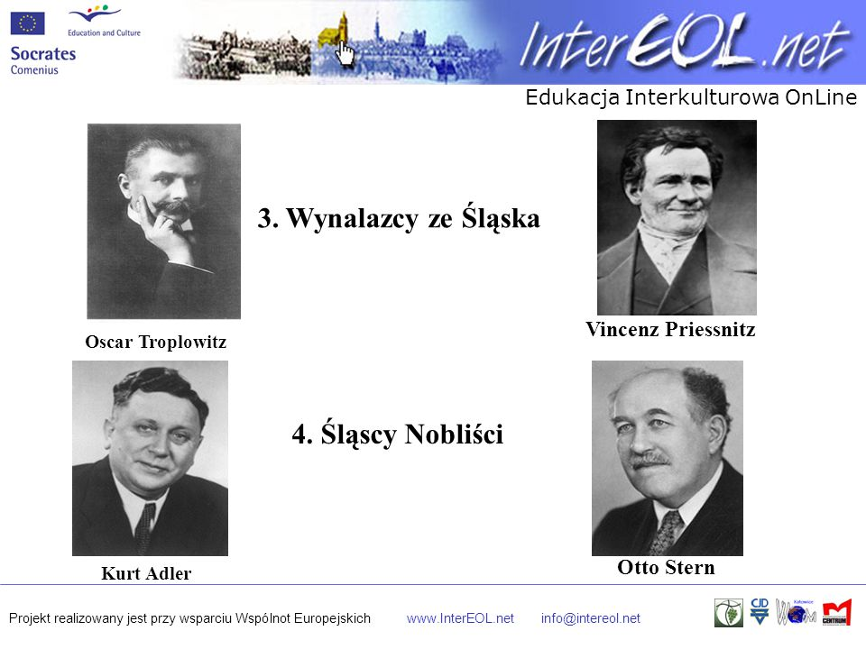 3. Wynalazcy ze Śląska 4. Śląscy Nobliści Vincenz Priessnitz