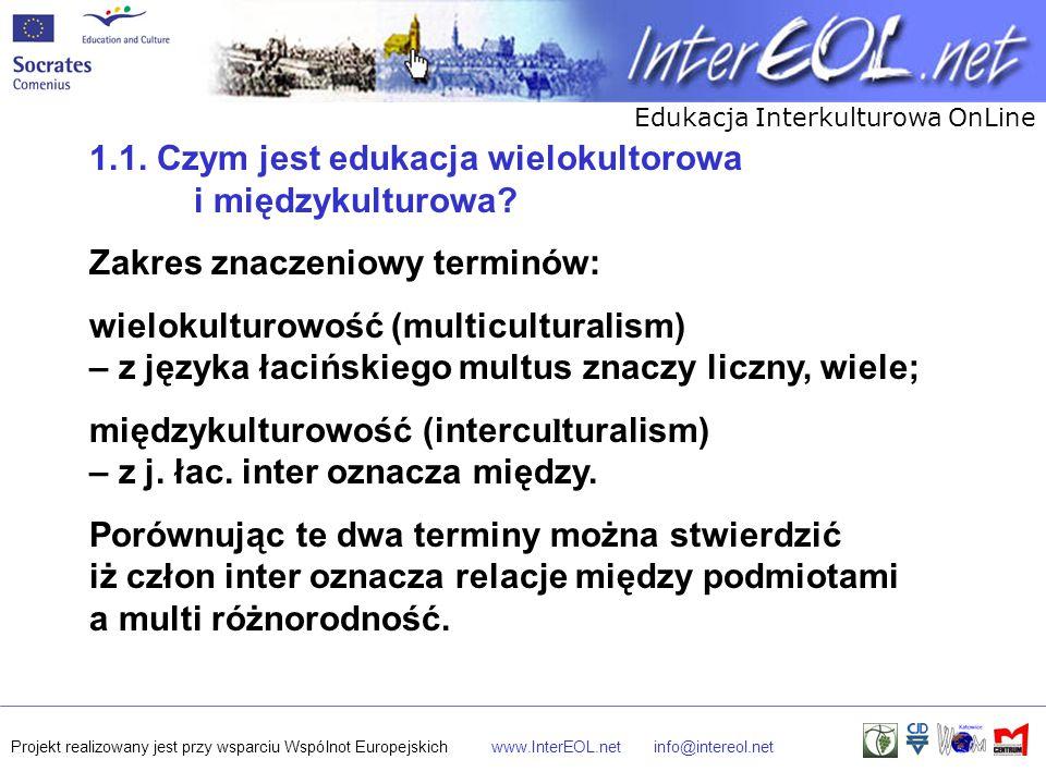 1.1. Czym jest edukacja wielokultorowa i międzykulturowa