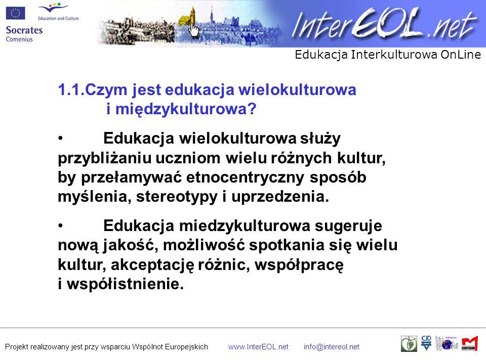 1.1.Czym jest edukacja wielokulturowa i międzykulturowa