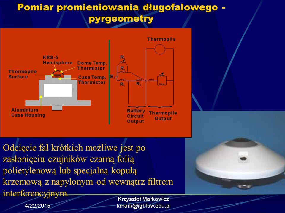 Pomiar promieniowania długofalowego - pyrgeometry