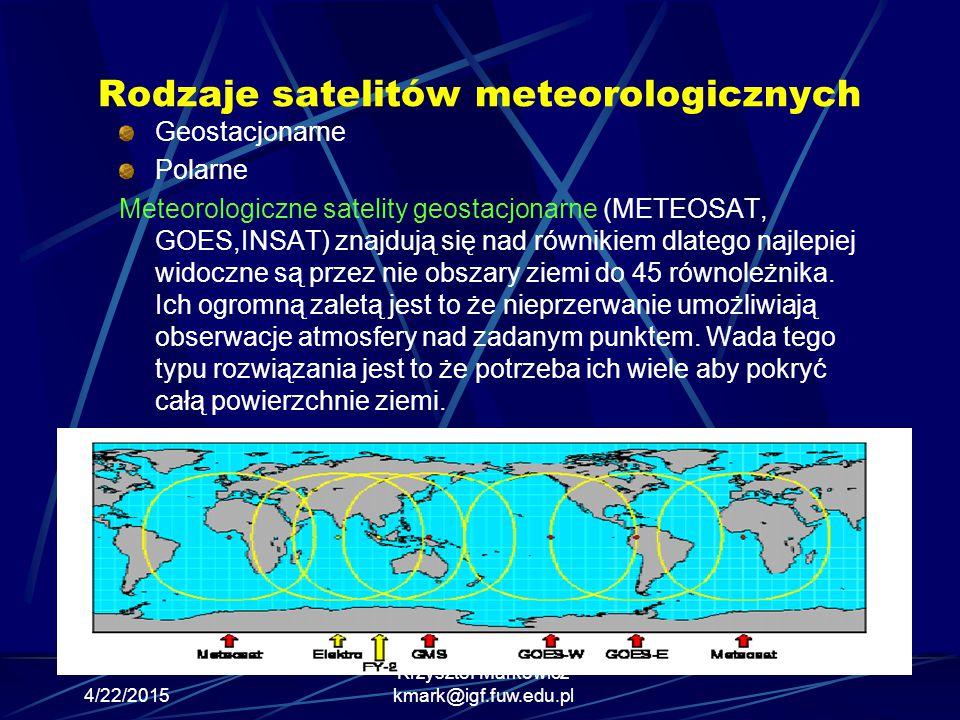 Rodzaje satelitów meteorologicznych