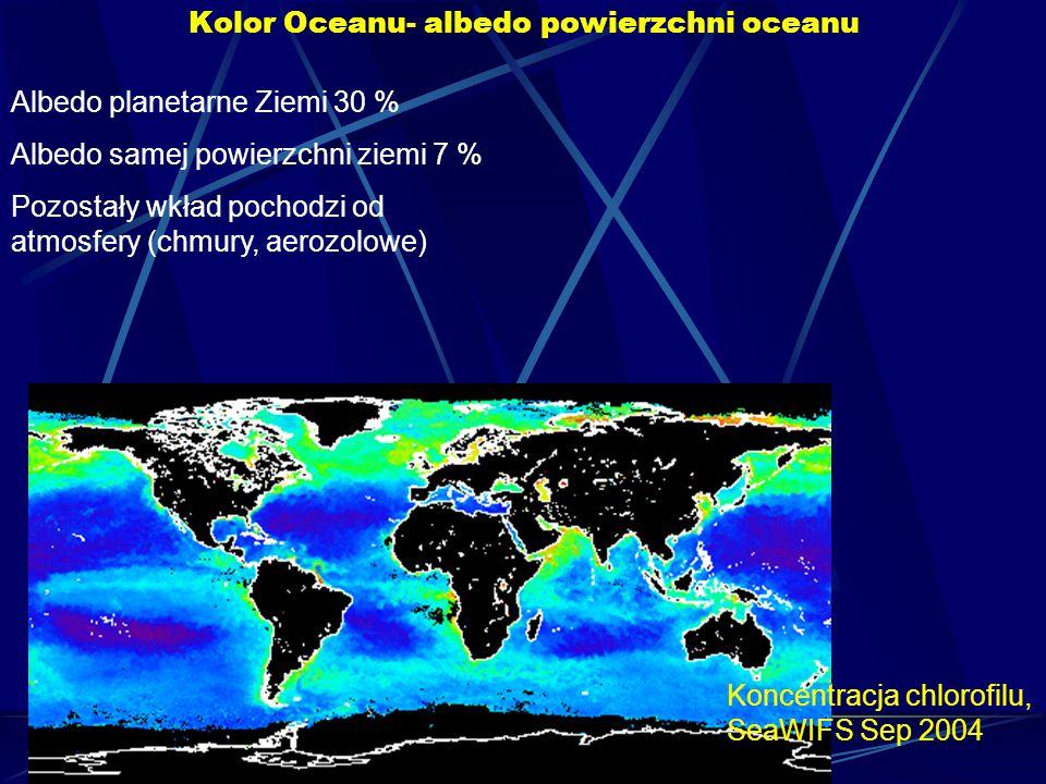Kolor Oceanu- albedo powierzchni oceanu