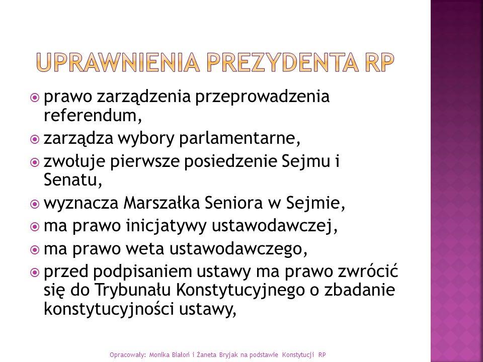 Uprawnienia Prezydenta RP