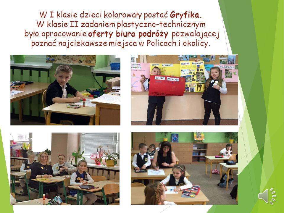 W I klasie dzieci kolorowały postać Gryfika
