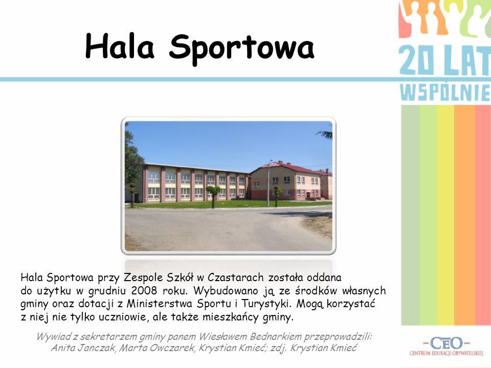 Hala Sportowa Hala Sportowa przy Zespole Szkół w Czastarach została oddana.