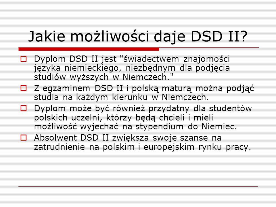 Jakie możliwości daje DSD II