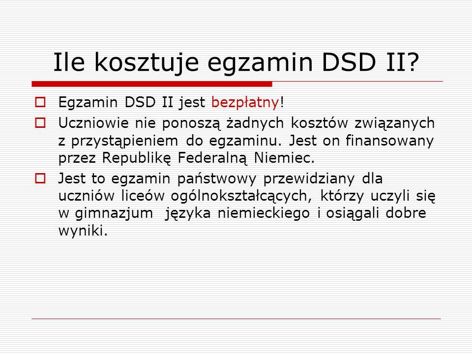 Ile kosztuje egzamin DSD II