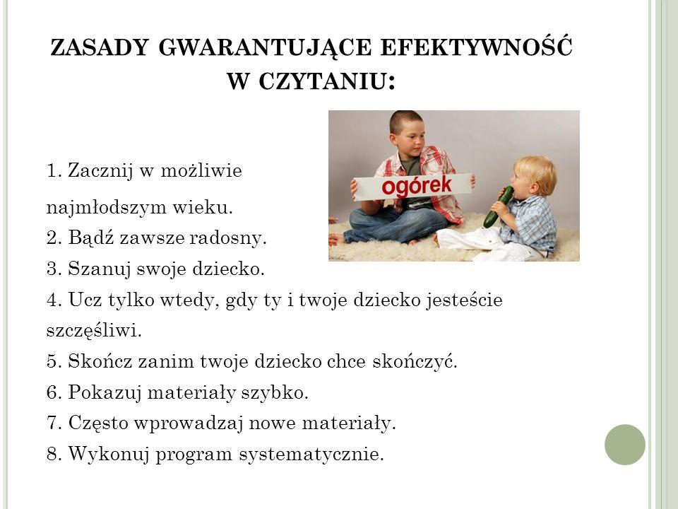 zasady gwarantujące efektywność w czytaniu: