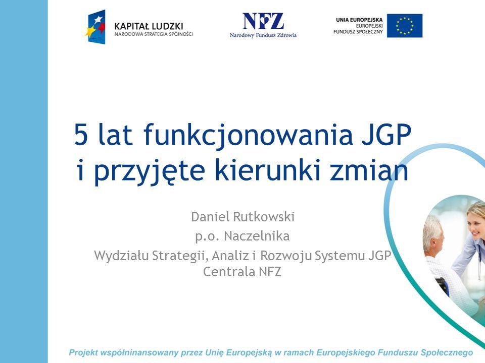 5 lat funkcjonowania JGP i przyjęte kierunki zmian