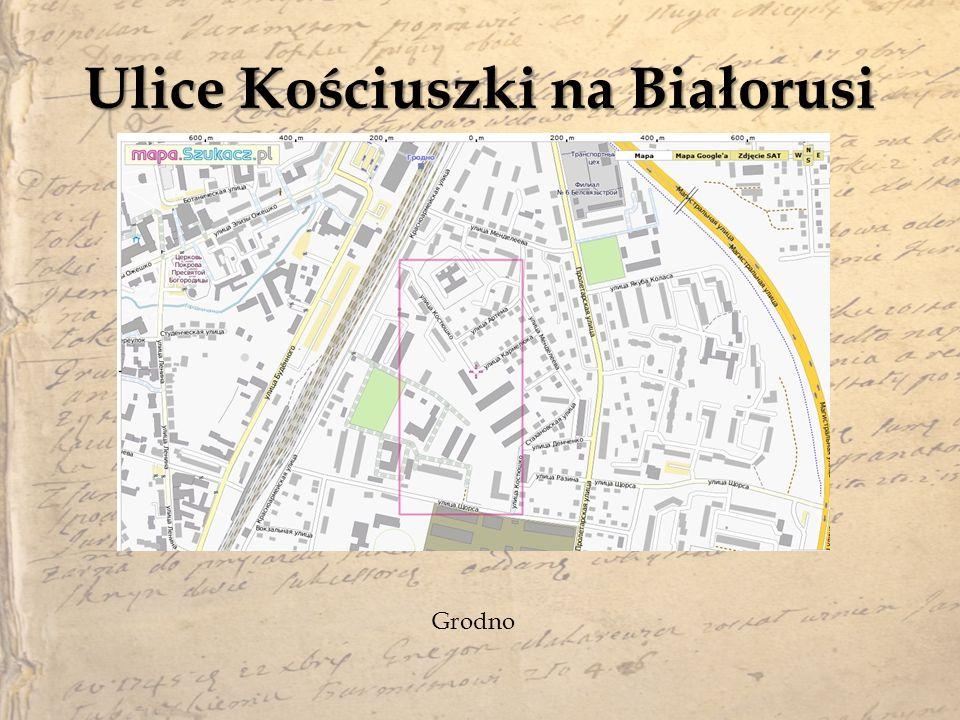 Ulice Kościuszki na Białorusi
