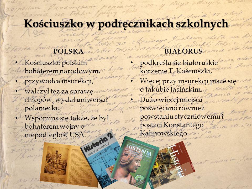 Kościuszko w podręcznikach szkolnych