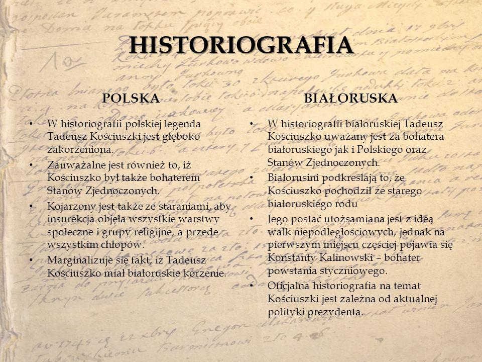HISTORIOGRAFIA POLSKA BIAŁORUSKA