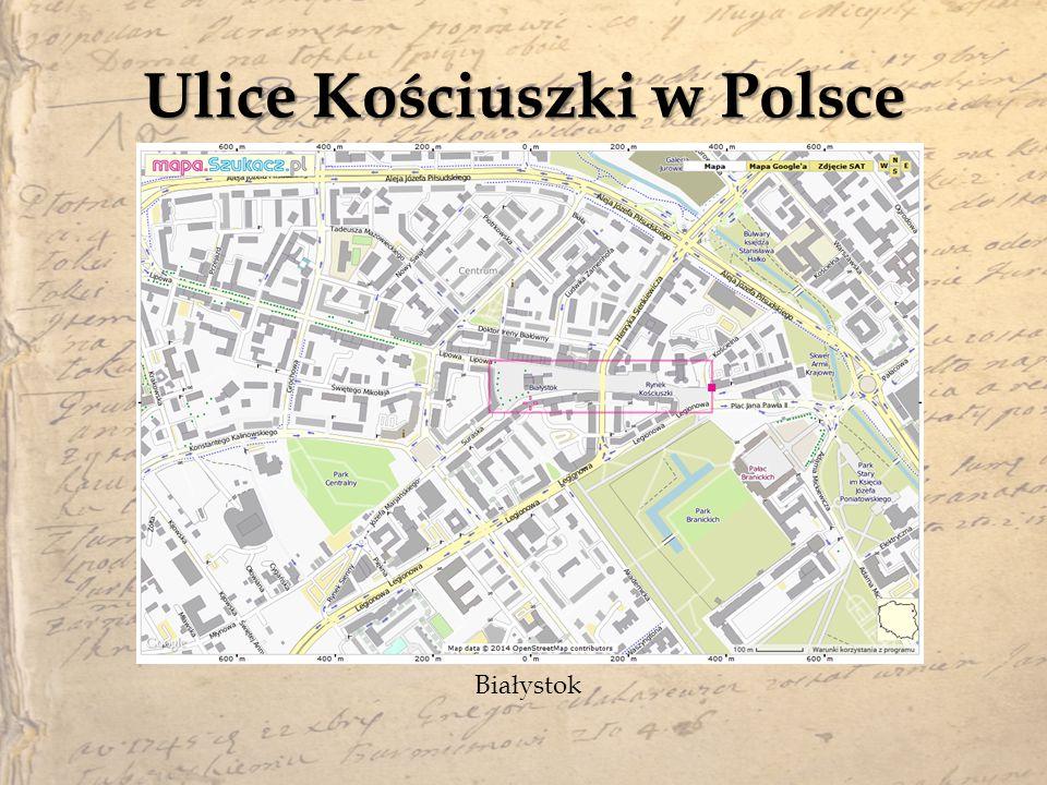 Ulice Kościuszki w Polsce