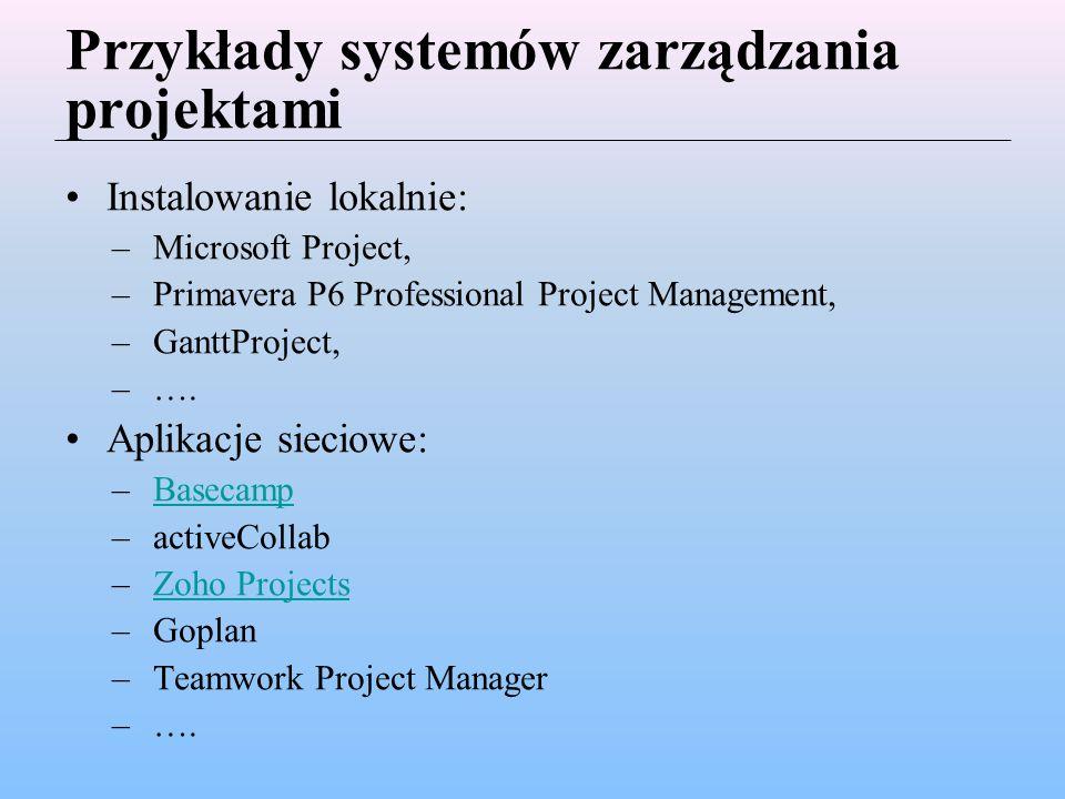 Przykłady systemów zarządzania projektami