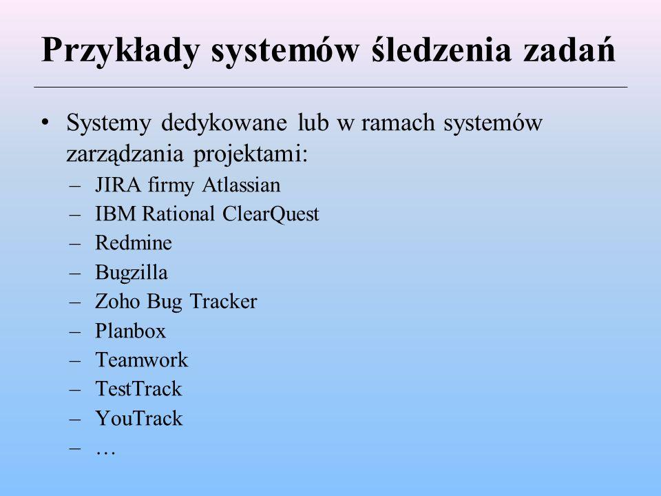 Przykłady systemów śledzenia zadań